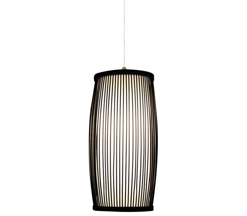Bamboo Hanging Lamp Black Elliot D18xH33cm