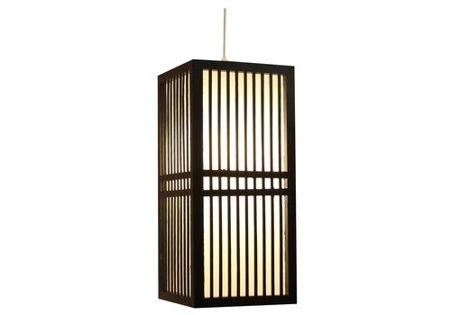 Fine Asianliving Japanese Lamp Shoji Black Kumamoto W17xD17xH37cm
