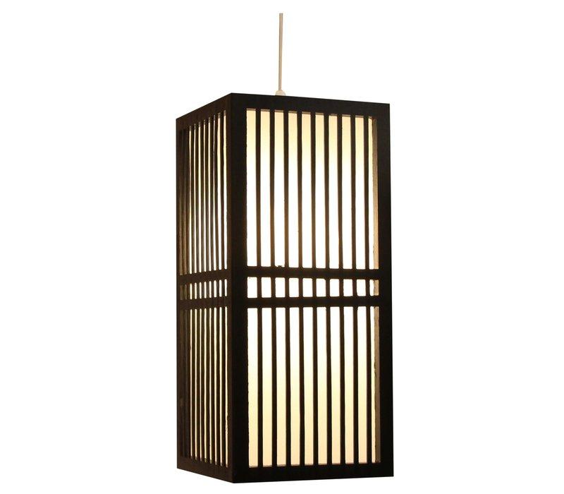 Japanse Lamp Shoji Zwart Kumamoto B17xD17xH37cm