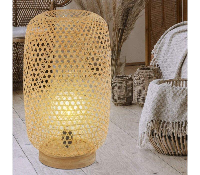 Bamboe Webbing Tafellamp Sanako B28xD21xH27cm