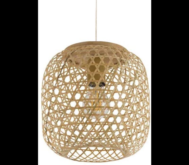 Bamboe Webbing Hanglamp Sakiya D25xH30cm