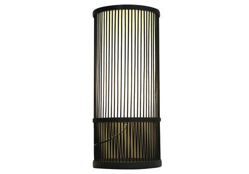 Fine Asianliving Bamboo Table Lamp Black Mark D18xH42cm