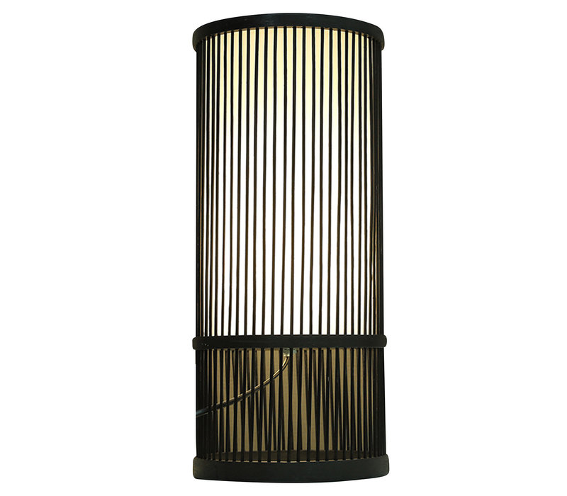 Bamboe Tafellamp Zwart Mark D18xH42cm