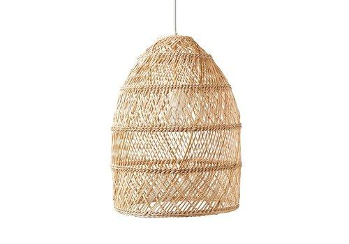 Fine Asianliving Pendelleuchte Hängelampe Bambus Webbing Handgefertigt Evelyn D24xH52cm