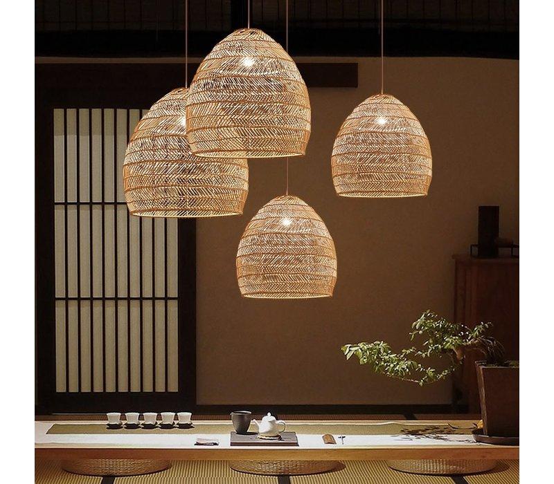 Bamboe Webbing Hanglamp Evelyn D24xH52cm