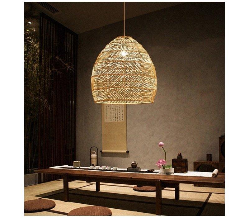 Bamboe Webbing Hanglamp Eve D29xH42cm