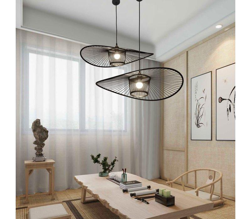 Bamboe Hanglamp Zwart Eugene D70xH16cm