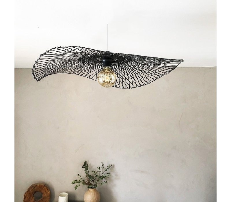 Bamboe Hanglamp Zwart Lionel D65cm