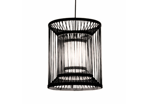 Fine Asianliving Bamboo Pendant Light Black D30xH45cm Alex