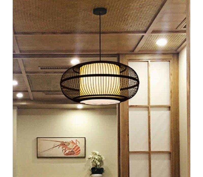 Bamboe Hanglamp Handgemaakt Zwart - Jake