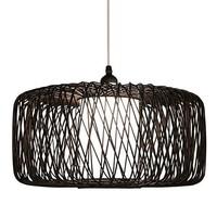 Bamboe Hanglamp Zwart D50xH30cm Noah