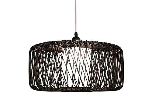 Fine Asianliving Bamboe Hanglamp Zwart D50xH30cm Noah