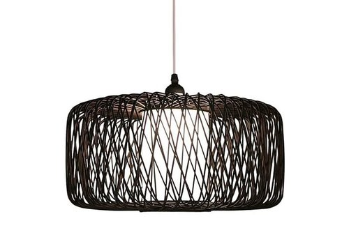 Fine Asianliving Bamboo Pendant Light Black D50xH30cm Noah