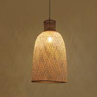 Bamboe Webbing Hanglamp Paisley D30xH55cm