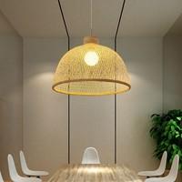 Bamboe Webbing Hanglamp Payton D40xH29cm