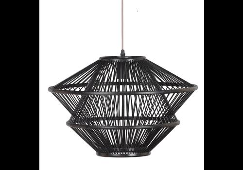 Fine Asianliving Bamboo Pendant Light Black D46xH31cm Ocean