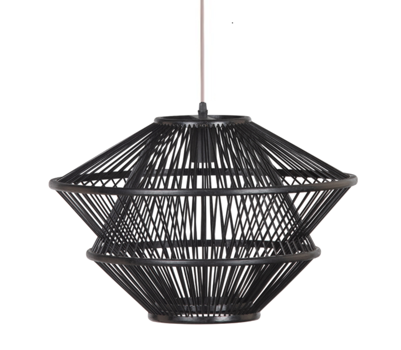 Bamboe Hanglamp Zwart D46xH31cm Ocean