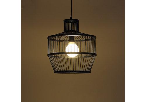 Fine Asianliving Bamboe Hanglamp Zwart D34xH35cm Melvin