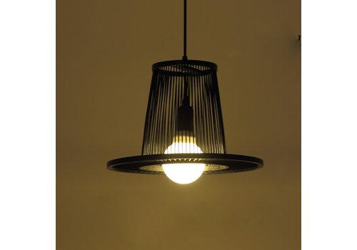Fine Asianliving Bamboo Pendant Light Black D35xH23cm Maury