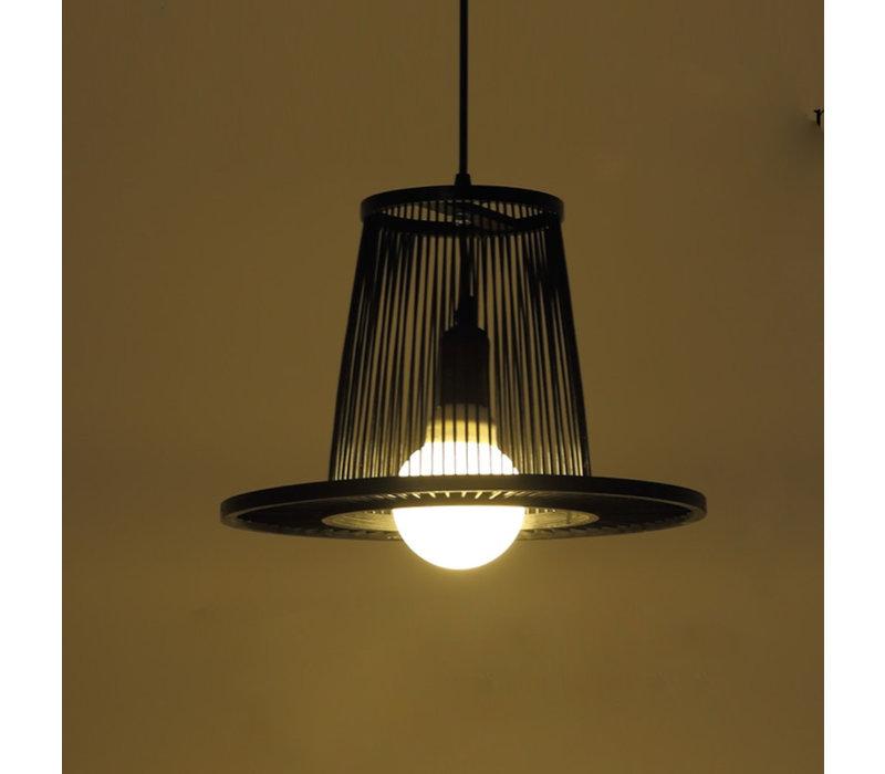 Bamboe Hanglamp Zwart D35xH23cm Maury