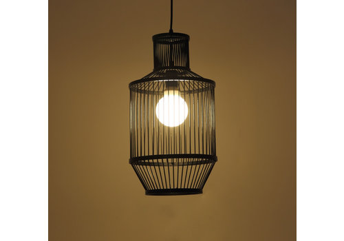 Fine Asianliving Bamboe Hanglamp Zwart D25xH47cm Miko