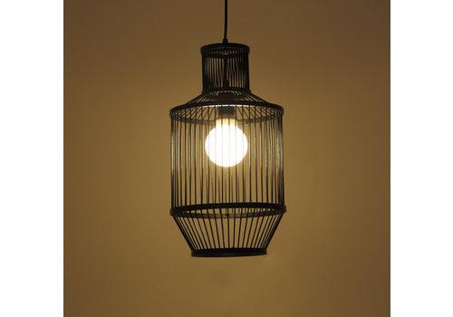 Fine Asianliving Bamboo Pendant Light Black D25xH47cm Miko