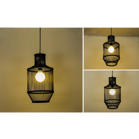 Bamboe Hanglamp Zwart D25xH47cm Miko