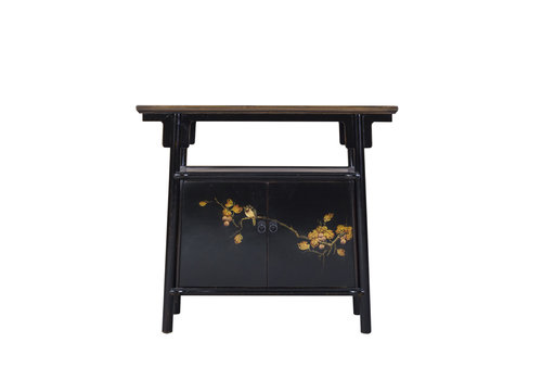 Fine Asianliving Chinese Cabinet Black Handpainted W98xD36xH86cm