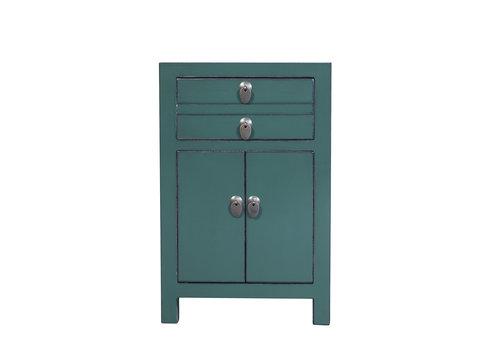 Fine Asianliving Chinese Nachtkastje Pine Groen B40xD32xH60cm