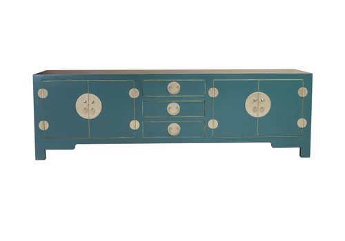 Fine Asianliving Chinese TV Stand Teal Blue W175xD47xH54cm