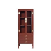 Chinese Boekenkast Glazen Deuren -  Scarlet Rouge B70xD40xH182cm - Orientique Collection