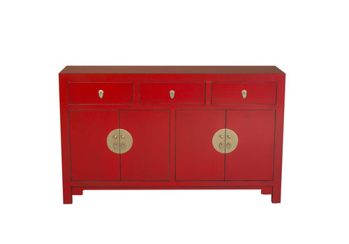 Fine Asianliving Chinese Dressoir Rood Lucky Rood B140xD35xH85cm - Orientique Collection