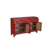 Chinese Dressoir Rood Lucky Rood B140xD35xH85cm - Orientique Collection