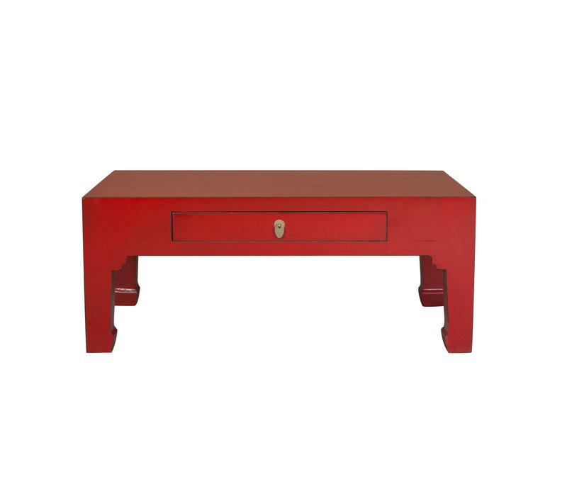Chinese Salontafel Lucky Rood - Orientique Collection B110xD60xH45cm