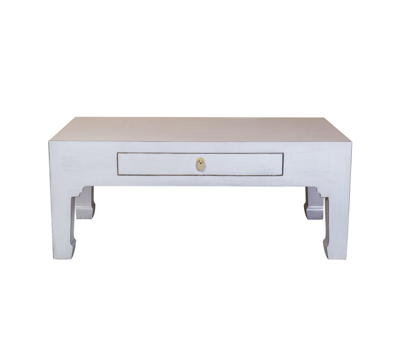 Chinese Salontafel Pastel Grijs - Orientique Collection B110xD60xH45cm