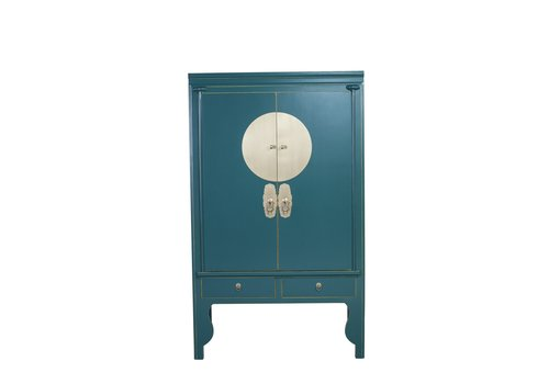 Fine Asianliving Chinese Wedding Cabinet Teal Blue - Orientique Collection W100xD55xH175cm
