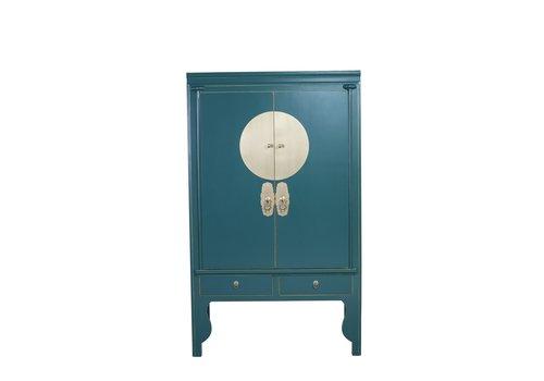 Fine Asianliving Chinesischer Hochzeitsschrank Teal Blue - Orientique Collection B100xT55xH175cm