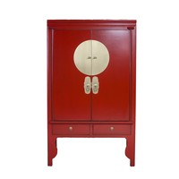 Chinese Bruidskast Rood - Ruby Rood - Orientique Collection B100xD55xH175cm