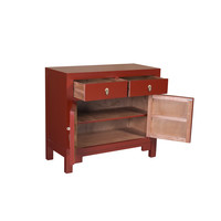 Chinese Kast Rood - Ruby Rood - Orientique Collectie B90xD40xH80cm