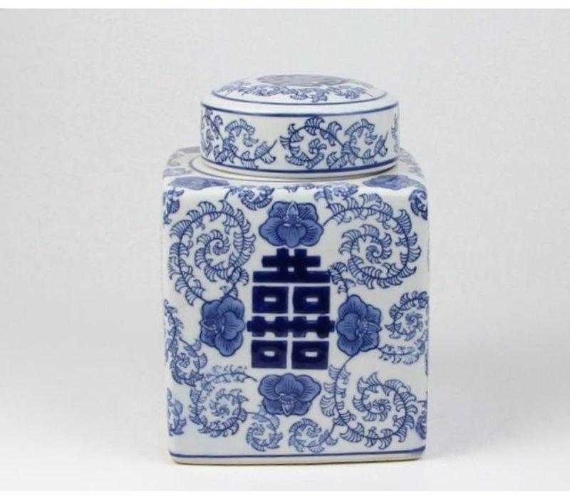 Chinese Gemberpot Dubbele Blijdschap B16xD16xH22cm