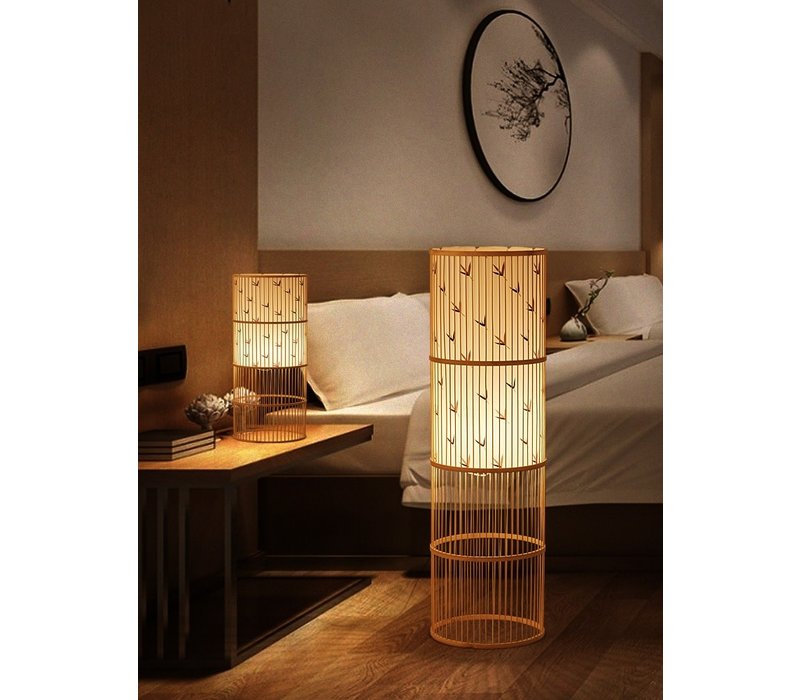 Bamboe Vloerlamp Handgevlochten - Sylvie
