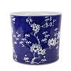 Fine Asianliving Chinese Bloempot Blauw Handgeschilderd Bloesems D22xH20cm