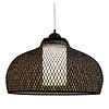 Fine Asianliving Bamboe Webbing Hanglamp Zwart Robin D52xH30cm