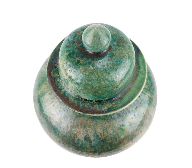 Chinese Gemberpot Groen Handgemaakt D23xH41cm