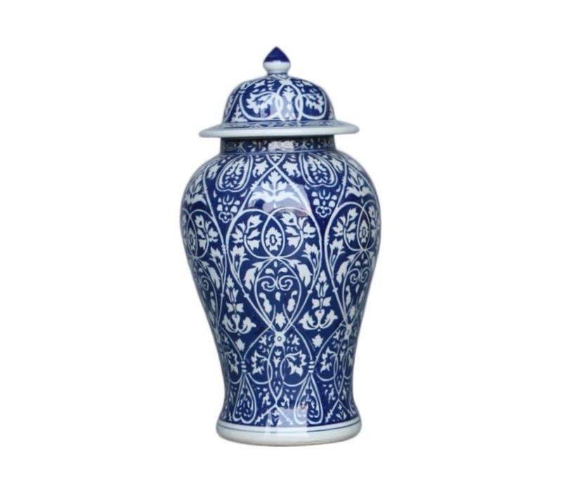 Chinese Ginger Jar Blue Porcelain D22xH45cm