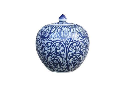 Fine Asianliving Chinese Gemberpot Blauw Porselein D27xH30cm
