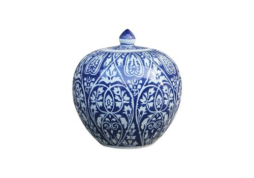 Fine Asianliving Chinese Ginger Jar Blue Porcelain D27xH30cm