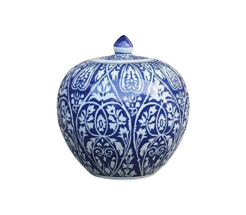 Chinese Ginger Jar Blue Porcelain D27xH30cm