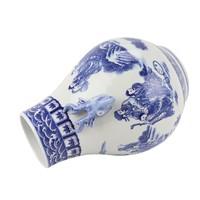 Vase Chinois Bleu Blanc Porcelaine D21xH29cm