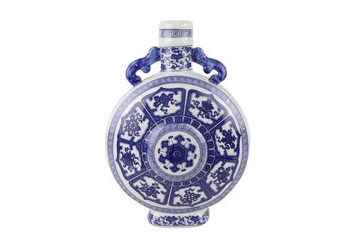 Fine Asianliving Chinese Vase Blue White Porcelain D22xH35cm
